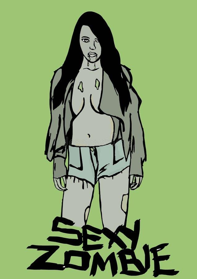 Sexy zombie royalty-vrije illustratie