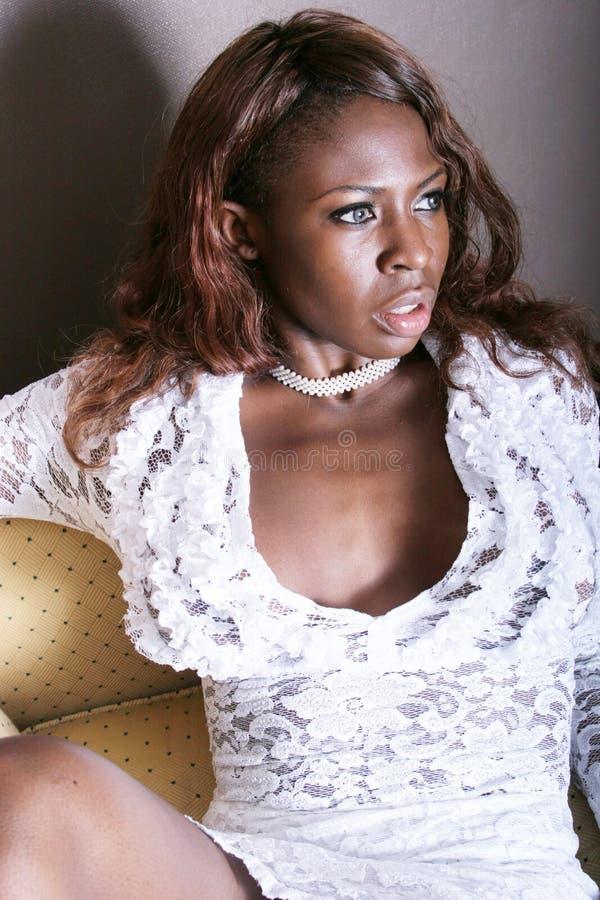 Sexy zwarte royalty-vrije stock afbeeldingen