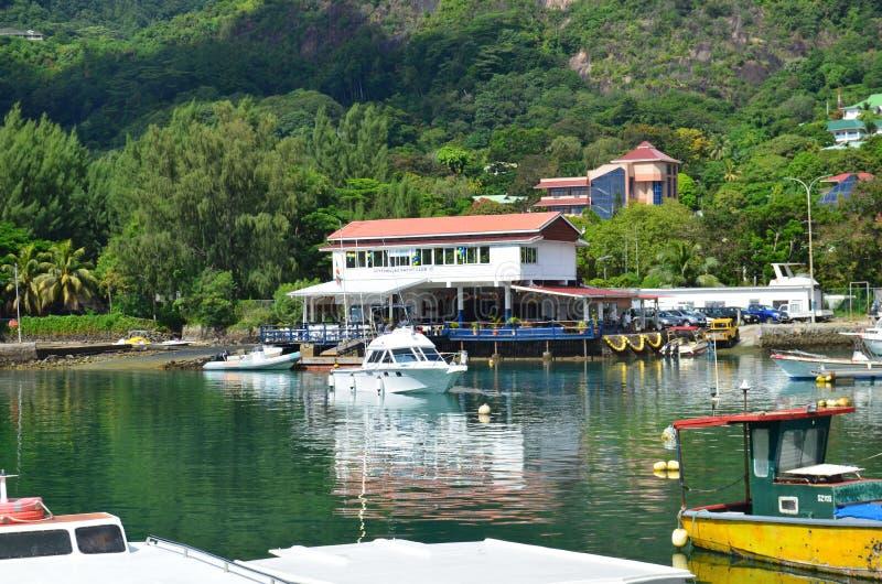 Seycelles Yacht Club stock photos