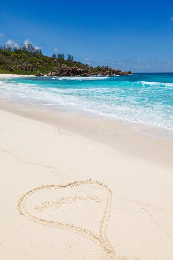 Seychellen, het eiland van La Digue stock foto's