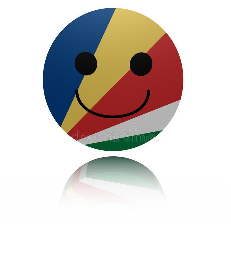 Seychellerna lycklig symbol med reflexionsillustrationen vektor illustrationer