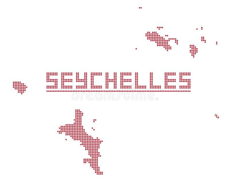Seychelles Africa Dot Map royalty free illustration