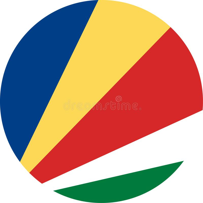 Seychelles Flag illustration vector eps vector illustration