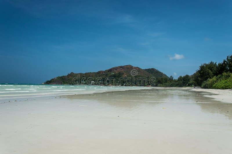 Seychelles Piękna Anse Volbert plaża zdjęcie stock