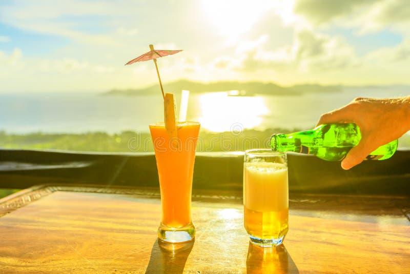 Seychelles tropikalny koktajl zdjęcia royalty free