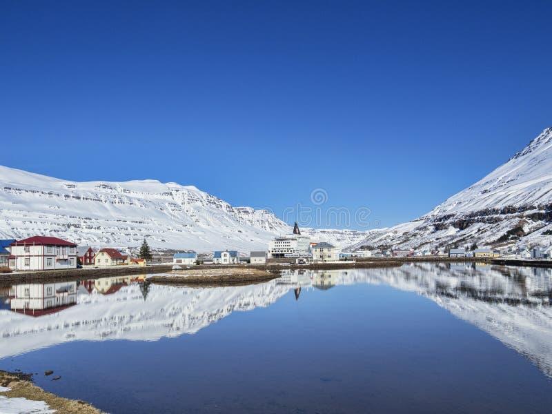 Seydisfjordur East Iceland stock photo
