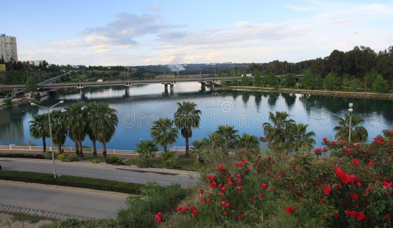 Seyhan River in Adana, Turkey. A view of Seyhan River in Adana, Turkey royalty free stock image