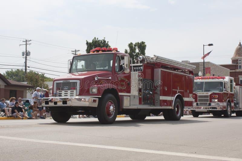 Seymour Rural Fire Department FireTruck stock photography