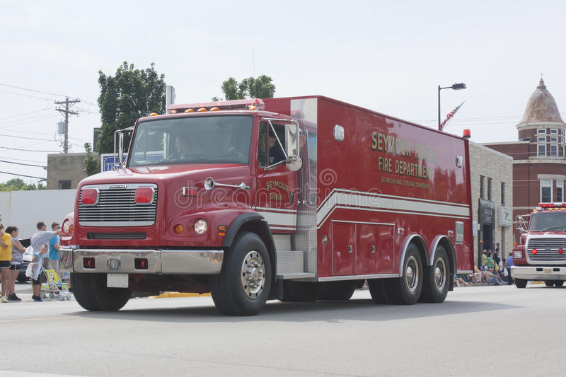 Seymour Rural Fire Department Tanker 1 Truck royalty free stock images
