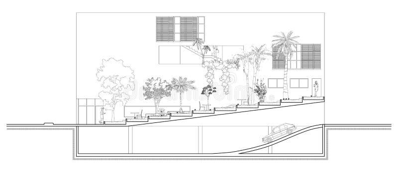 Sezione Del Giardino Illustrazione Vettoriale