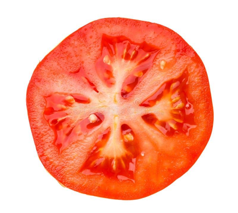Sezione del pomodoro immagini stock