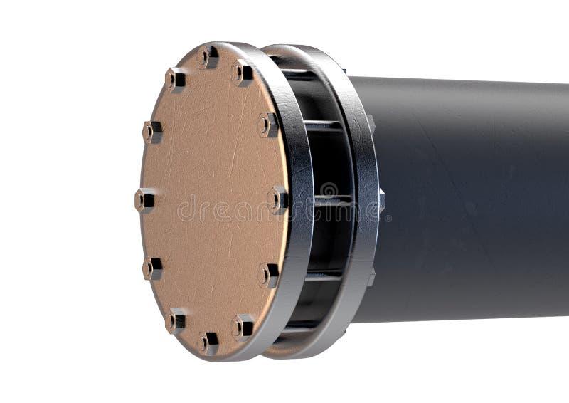 Sezione del tubo del PVC royalty illustrazione gratis
