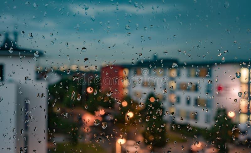 Sezione - le finestre un giorno piovoso fotografia stock libera da diritti