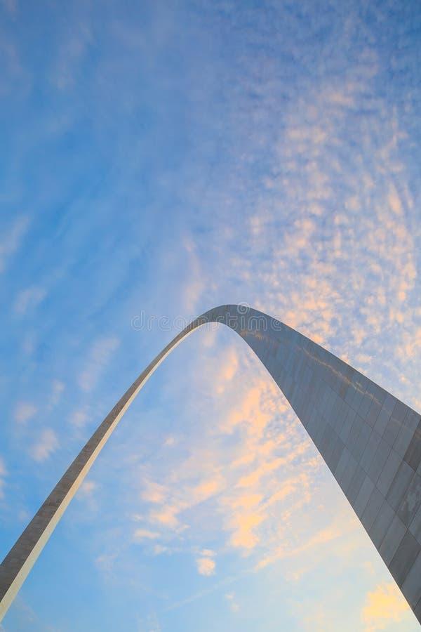 Sezione superiore dell'arco St. Louis immagini stock libere da diritti