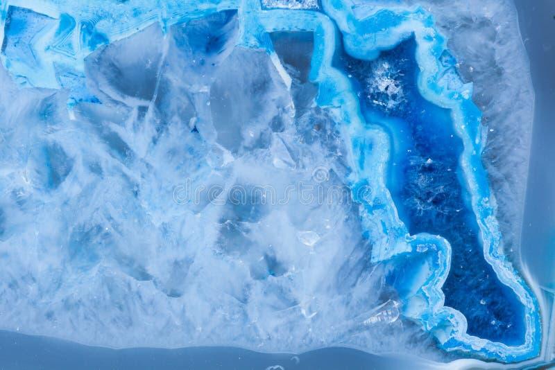 Sezione trasversale della malachite blu astratta di fantasia immagini stock