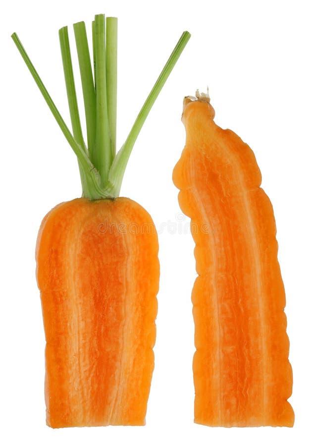 Sezioni trasversali di piccola verdura arancio della carota immagini stock
