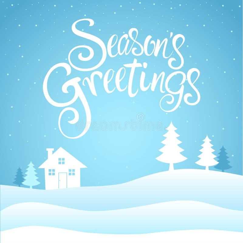 Sezonów powitań tekst ilustracji