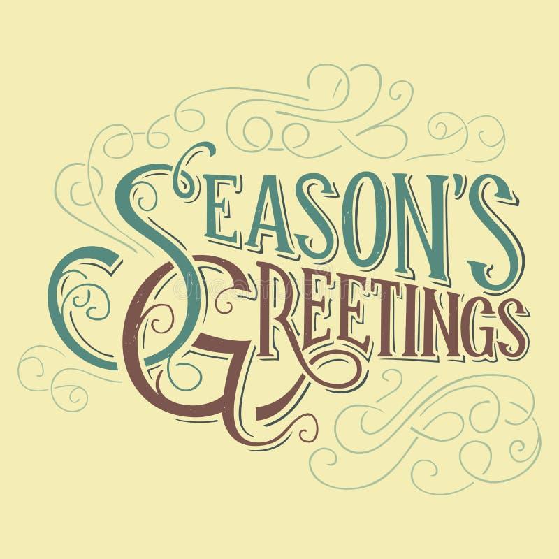Sezonów powitań typograficzny projekt ilustracja wektor
