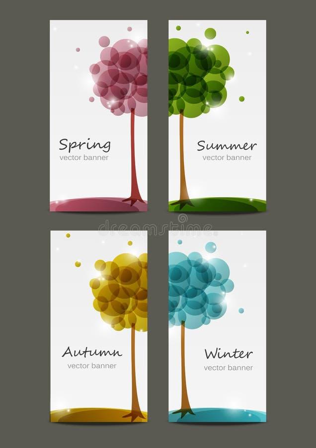 Sezonów sztandary ilustracji