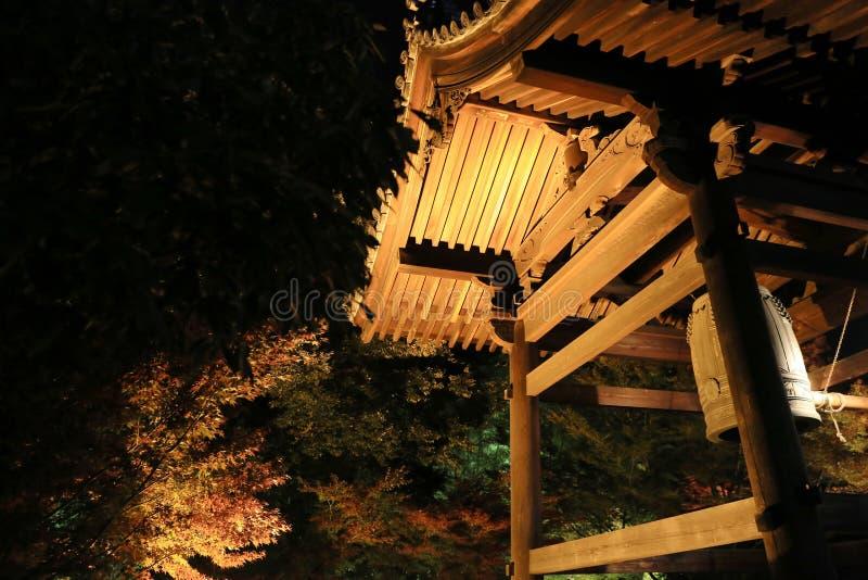 Sezon jesienny kodaiji noc zdjęcie royalty free