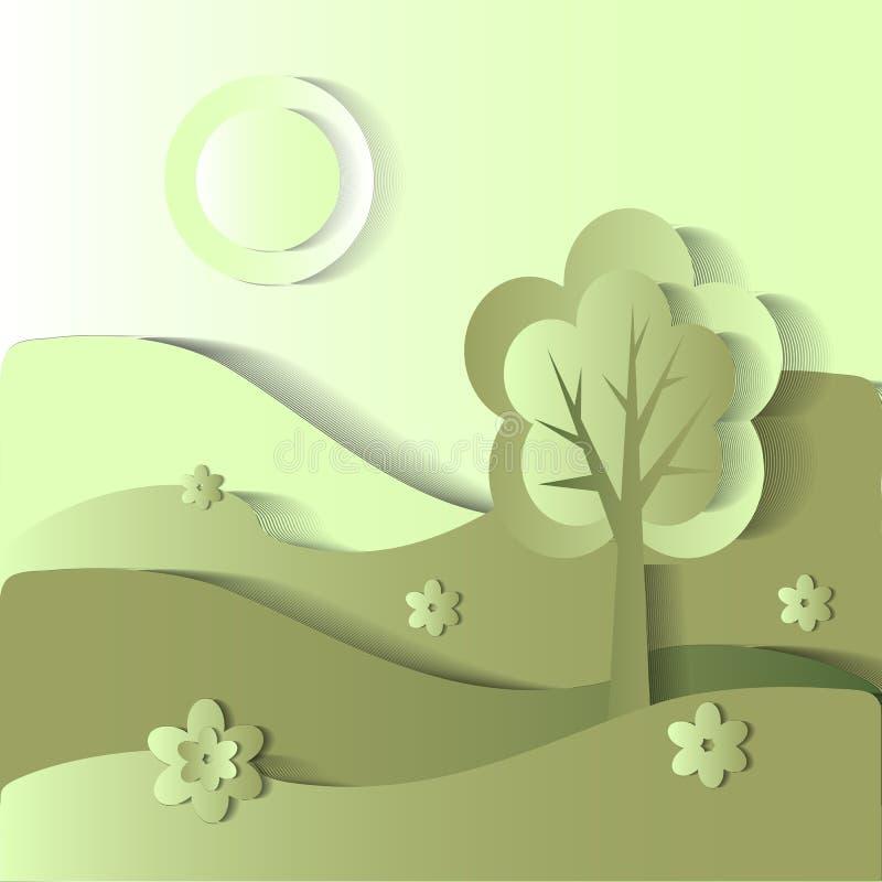 sezon jest latem Wektoru stylizowany wizerunek ilustracji