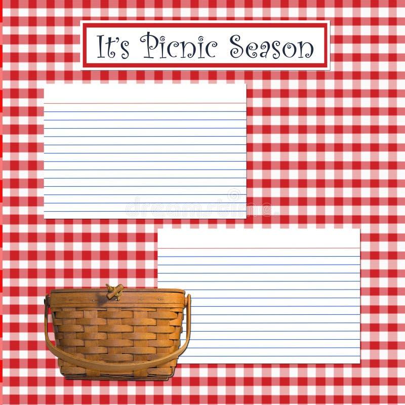 sezon na piknik ilustracja wektor
