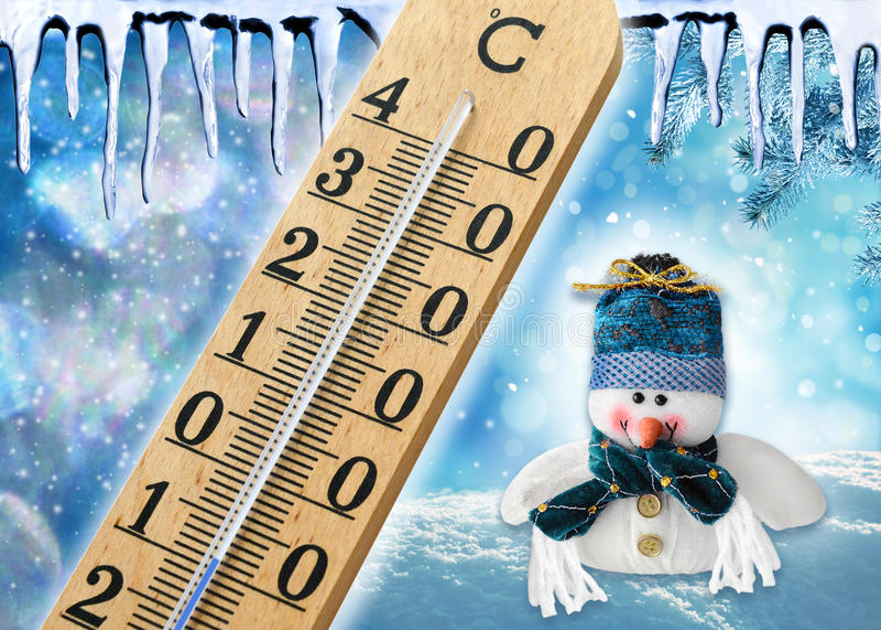 Sezonowa zimna zimy pogoda fotografia stock