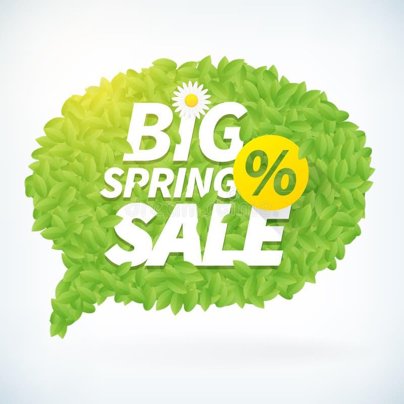 Sezonowy duży wiosny sprzedaży mowy bąbla biznesu tło ilustracji