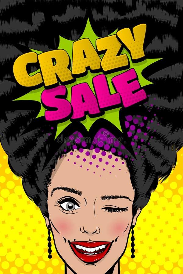Sezonowy sprzedaży kobiety wystrzału sztuki rocznika plakat ilustracji