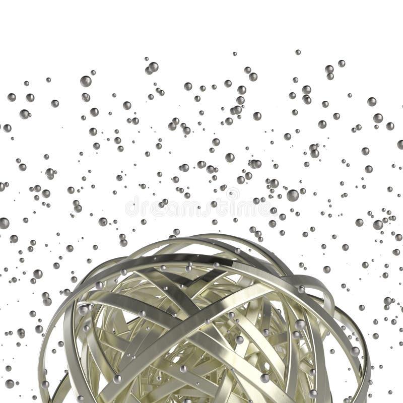 sfär 3d av mångfärgade cirklar i moln från mångfärgade droppar royaltyfri illustrationer