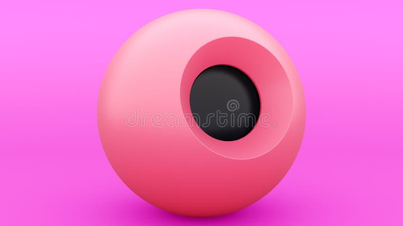 Sfär för boll för magi 8 purpurfärgad, stor design för några avsikter illustration 3d abstrakt gray modernt designelement garneri stock illustrationer