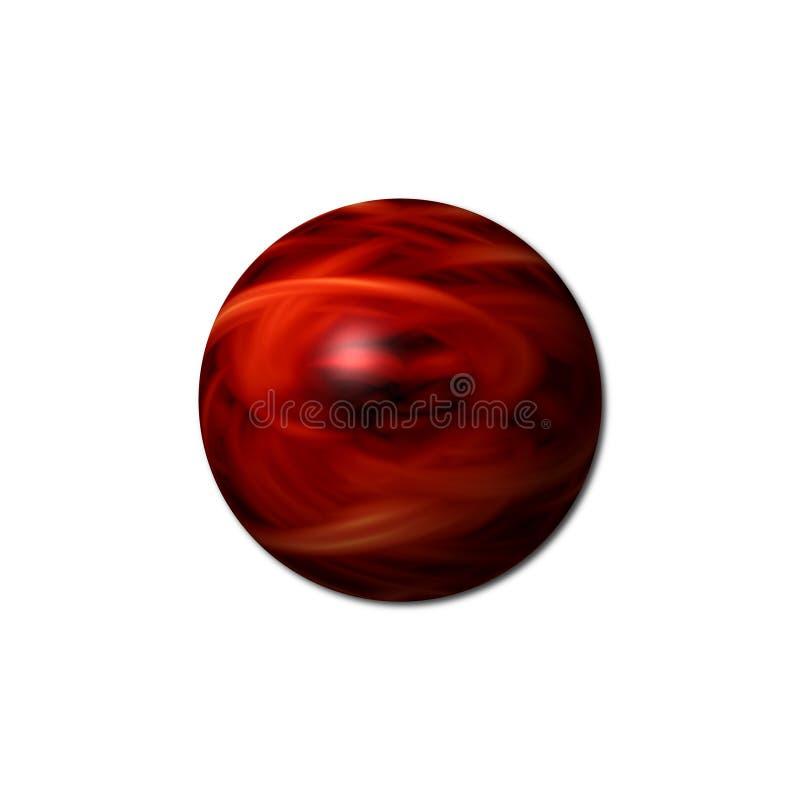 Sfär för röd brand royaltyfria bilder