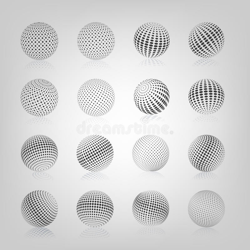 Sfär med den rastrerade påfyllningen, vektorillustration vektor illustrationer