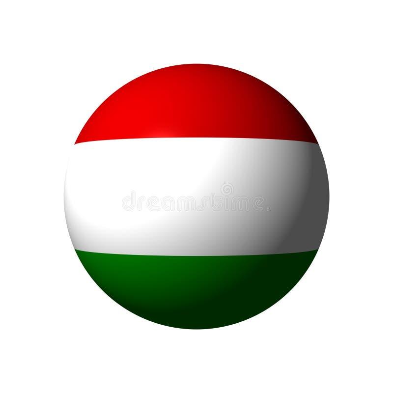 Sfär med flaggan av Ungern royaltyfri illustrationer