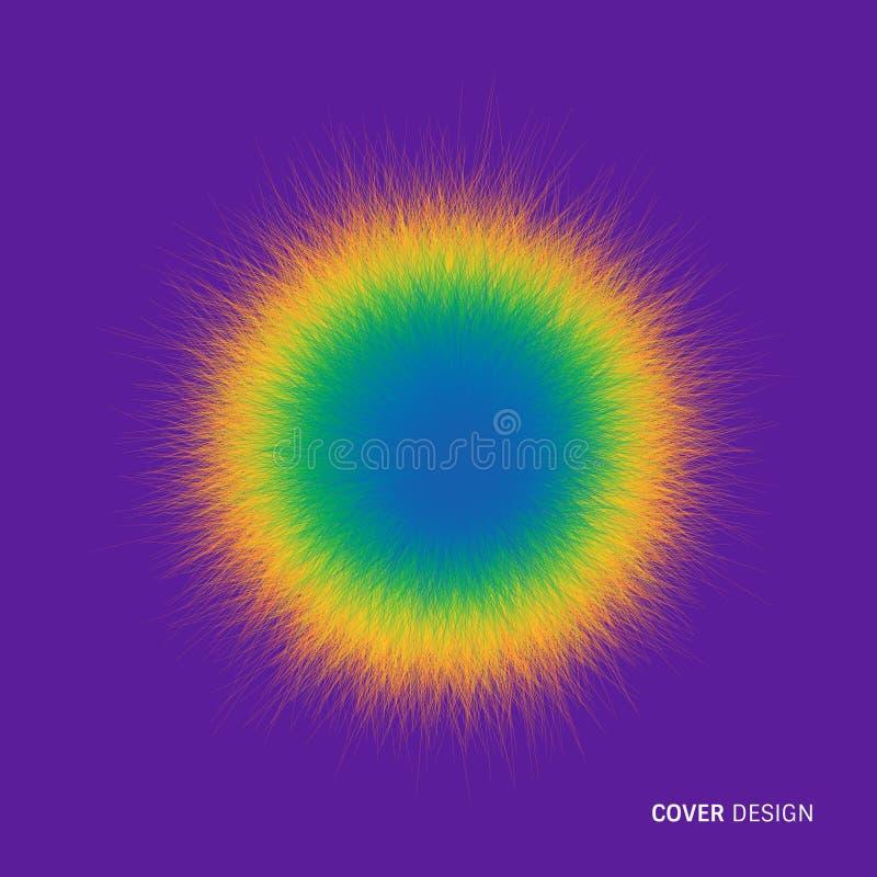 Sfären som består av kaotiska linjer Realistisk fluffig beståndsdel för vektor vektor illustrationer