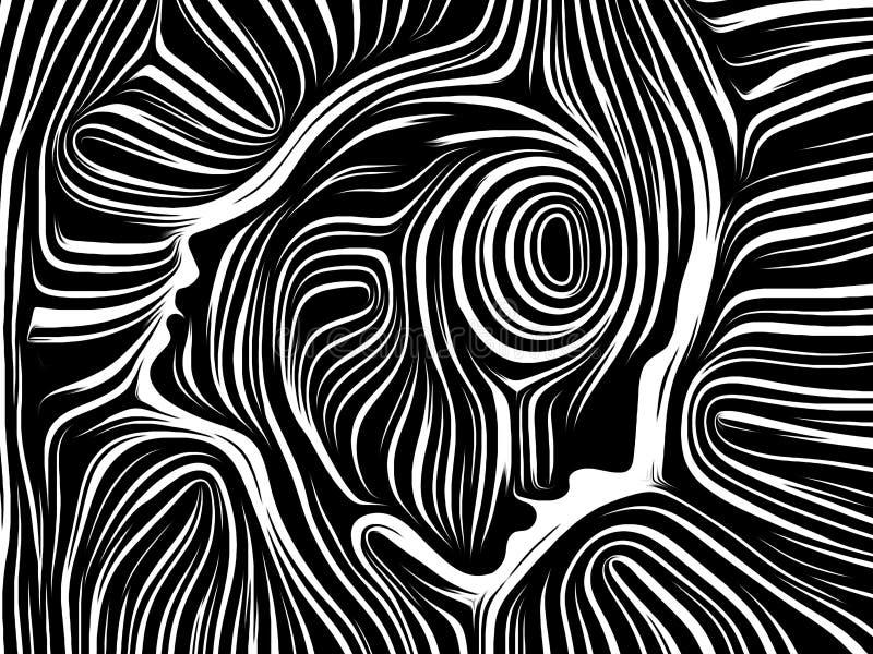 Sfärer av inre linjer royaltyfri illustrationer