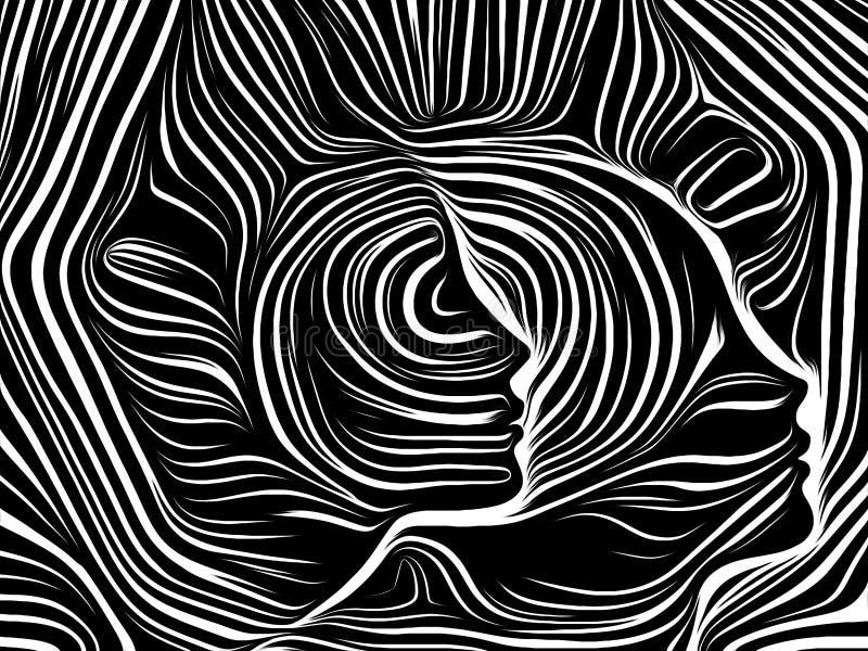 Sfärer av inre linjer stock illustrationer