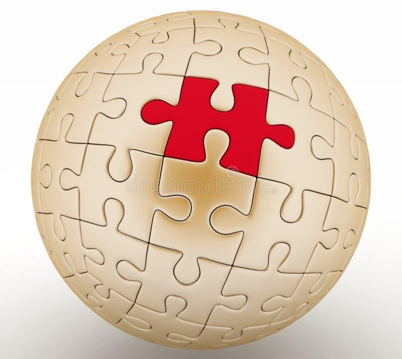 Sfärisk jigsaw royaltyfri illustrationer