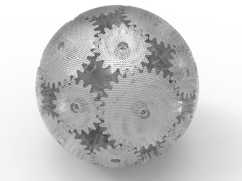 Sfärisk kugghjulenhet för ingrepp royaltyfri illustrationer