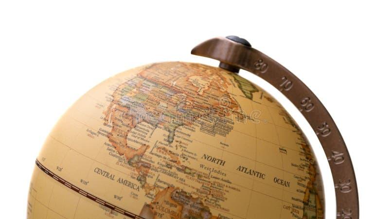 Sfärisk modell för världsjordklotOrb royaltyfri bild