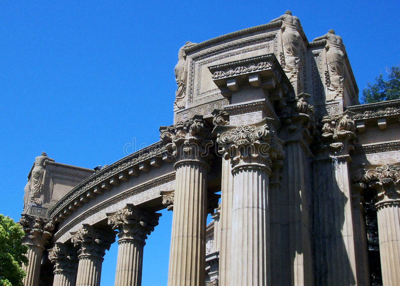 SF Palace of Fine Arts royalty free stock image