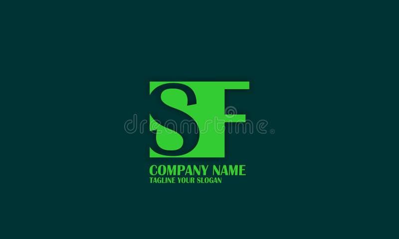 SF, S F listu loga wektorowy projekt ilustracja wektor
