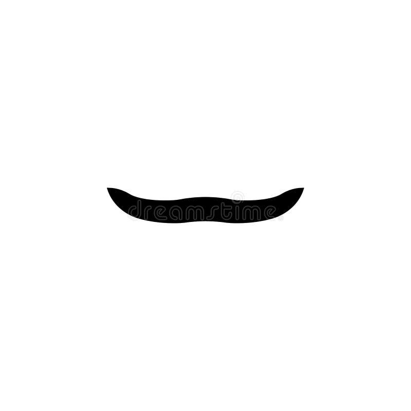 Sfałszowanego wąsa prosta czarna ikona Mężczyzny wąsy sylwetka ilustracja wektor