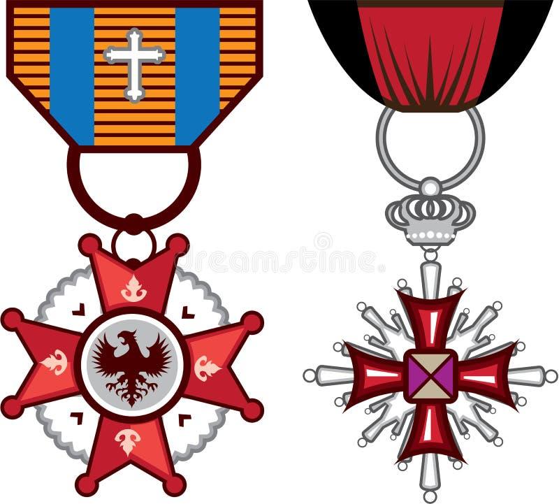 Sfałszowani wektorowi Militarni medale, rozkazy/ ilustracji