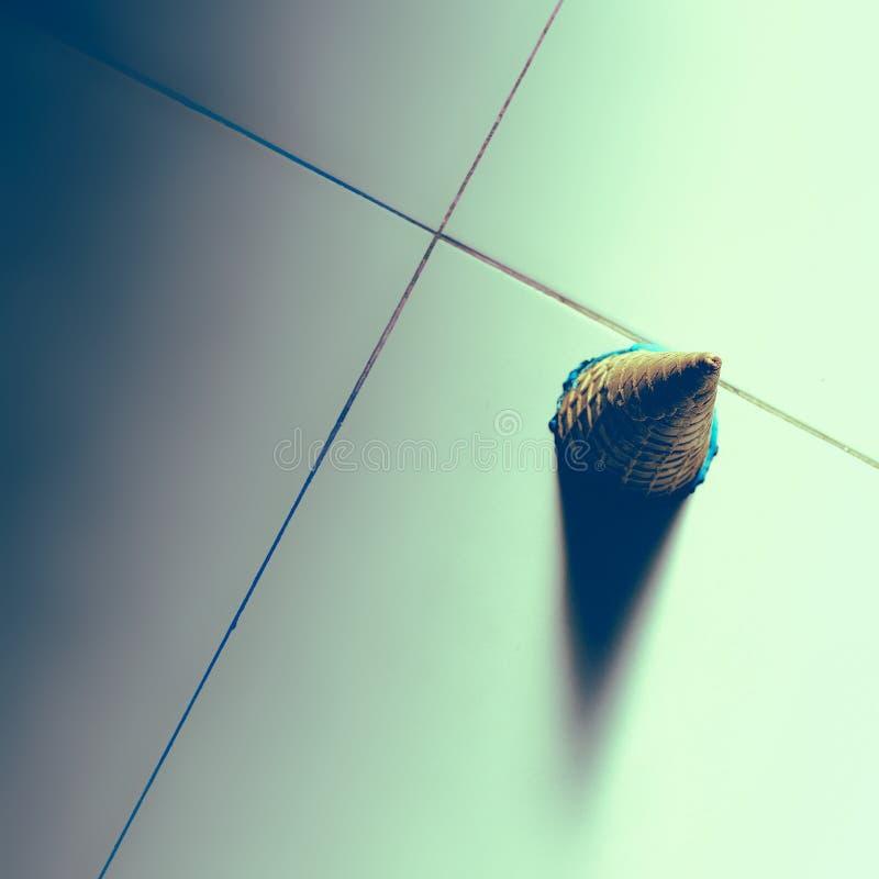 Sfałszowany lody na podłoga Mody minimalny tło fotografia stock