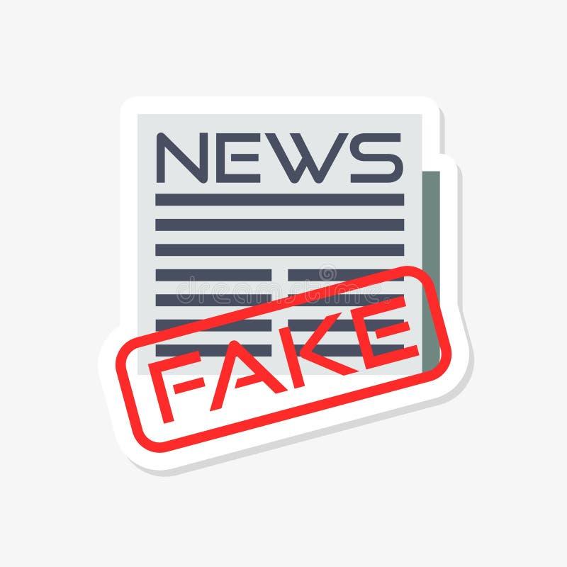 Sfałszowany wiadomości imitacji poczty fact majcher który mówi Sfałszowaną wiadomość, stempluje royalty ilustracja