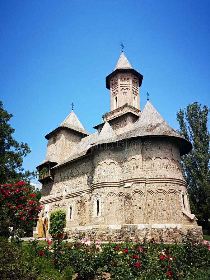 Sfanta Precista fortified church, in Galati, Romania royalty free stock photography