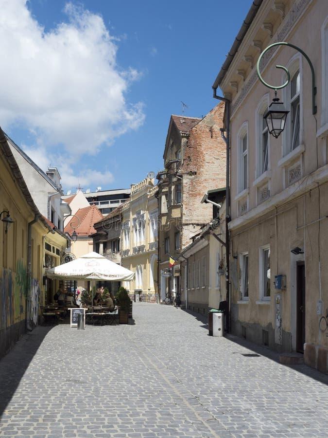 Sfantul Ioan street in Brasov, Romania stock photo