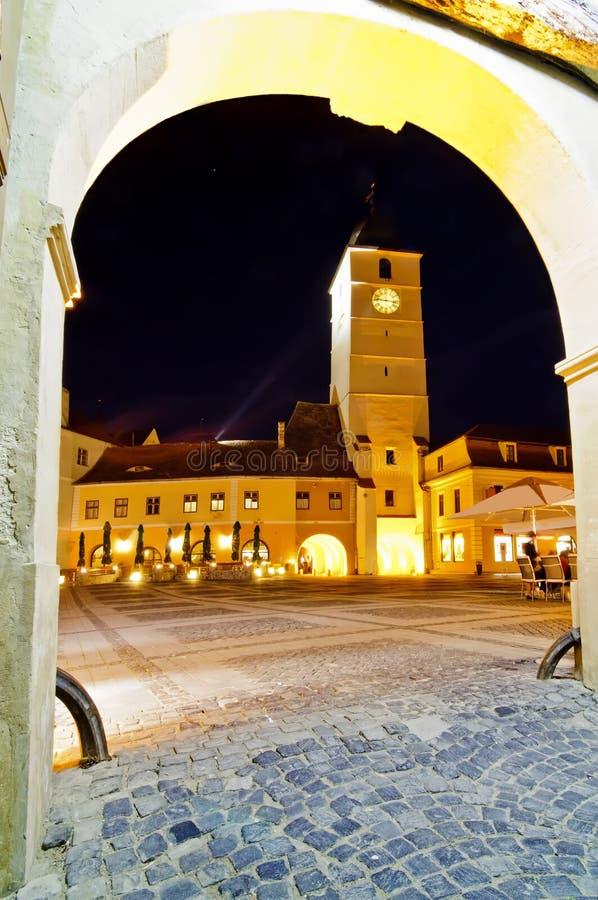 sfatului Sibiu turnul obraz stock
