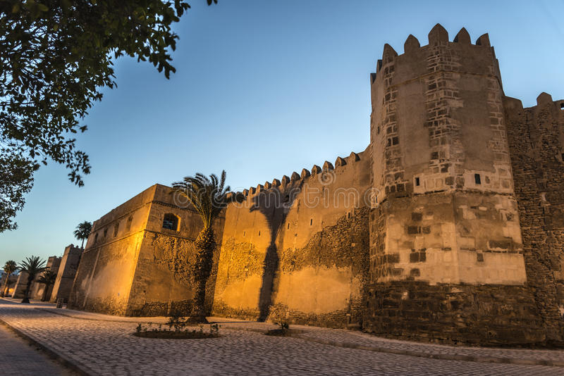 Sfax Tunisia. Tunisia Sfax city views at sunset in Ramadan royalty free stock photos